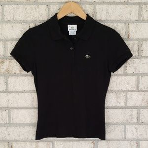 Lacoste Black Polo Short Sleeve Shirt